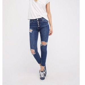 Free People | Button Fly High Rise Skinny Skinny